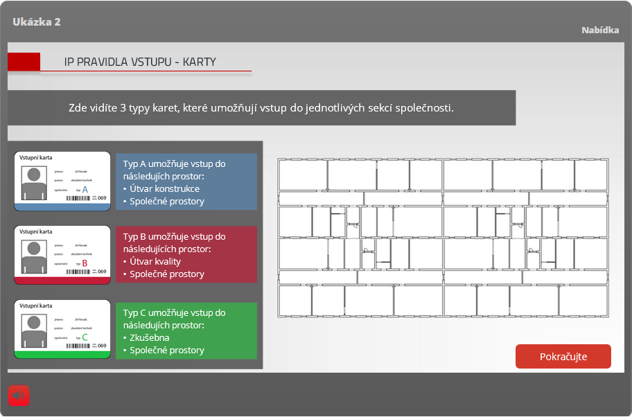 úvodní obrazovka pro e-learningový kurz
